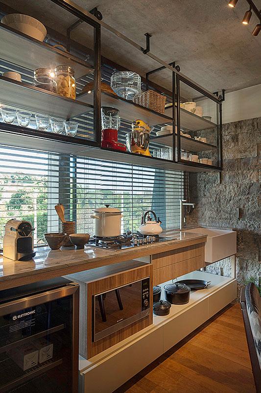 cozinha-decorada-estilo-industrial